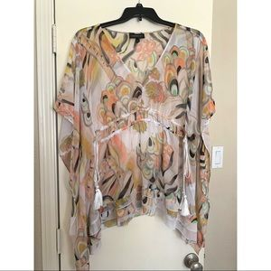Sheer dolman blouse